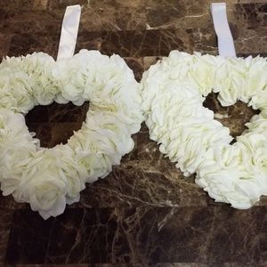 Other - 2 Heart Shaped Wedding Wreaths
